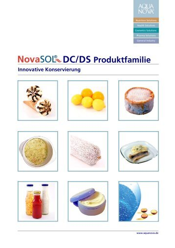 Innovative Konservierung DC/DS Produktfamilie - Aquanova