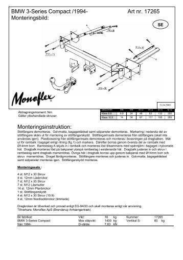 Monteringsinstruktion: BMW 3-Series Compact ... - Schmiedmann
