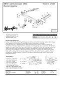 Monteringsinstruktion: BMW 3-Series Compact ... - Schmiedmann - Page 2