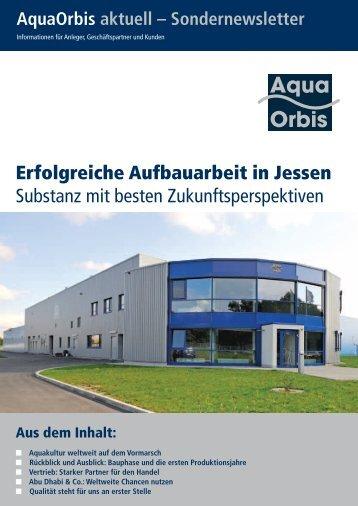 Erfolgreiche Aufbauarbeit in Jessen Substanz mit ... - bei Aquaorbis