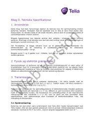 Bilag D. Tekniske Specifikationer 1 Anvendelse 2 Fysisk og ... - Telia