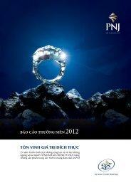 Báo cáo thường niên năm 2012 - PNJ