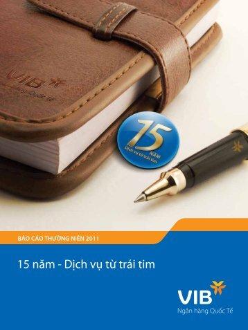 Báo cáo thường niên năm 2011 - VIB
