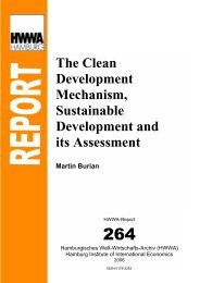 The Clean Development Mechanism, Sustainable Development and ...