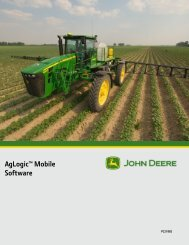 AgLogic Mobile Software User Guide - StellarSupport - John Deere