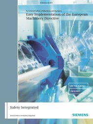 Functional Safety of Machines and Systems - Siemens Industry, Inc.