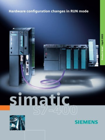 SIMATIC S7-400 - Hardware configuration changes in RUN mode