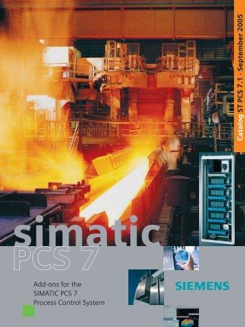 Catalog ST PCS 7.1 - September 2005