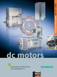 Engineering information for Catalog DA 12 · DC Motors