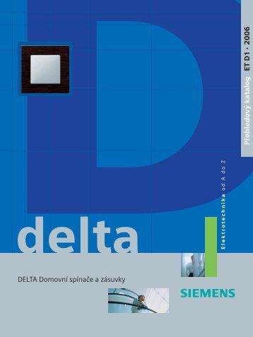Přehledový katalog ET D1 2006 DELTA Domovní spínače ... - Siemens