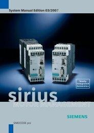 System Manual SIMOCODE pro Edition 03/2007