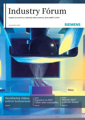 Industry Fórum (1432 KB) - Siemens, s.r.o.