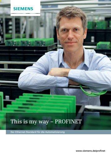 This is my way – PROFINET - DE