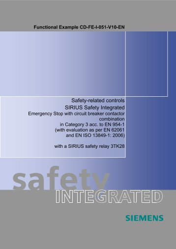 Safety-related controls SIRIUS Safety Integrated