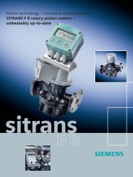 Proven technology – innovative enhancements! SITRANS F R rotary ...