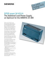 SITOP power 24 V/3.5 A The Stabilized Load Power Supply, an ...