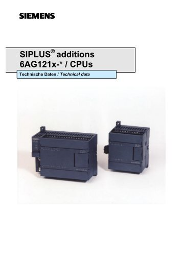 SIPLUS additions 6AG121x-* / CPUs