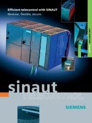 Efficient telecontrol with SINAUT Modular, flexible, secure.