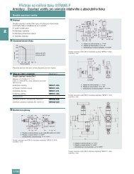 Katalogové listy ventilového programu