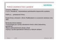 Integrátor: IVAR a.s. Projekt: Panelárna ... - Siemens, s.r.o.