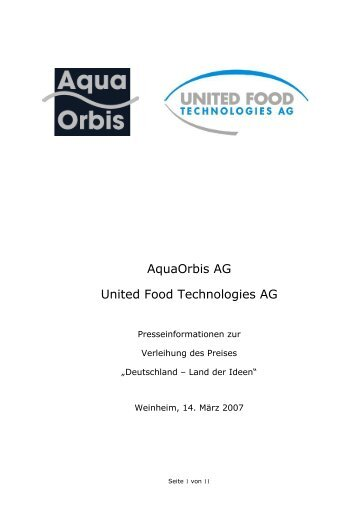 Kleinemas Fleischwaren - Aquakulturtechnik