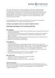 Psychologin/Psychologen für die Teamleitung 80-100%