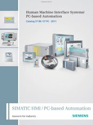 Catalog ST 80 / ST PC · 2011 - Siemens