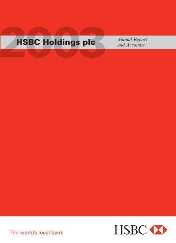 HSBC Holdings plc 2003 Annual Report ... - Zonebourse.com