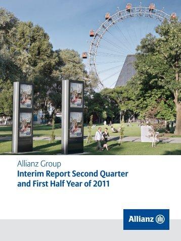 Interim Report 2nd quarter 2011 (pdf, 5.6 MB) - Allianz