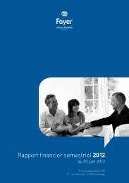 Rapport financier semestriel 2012