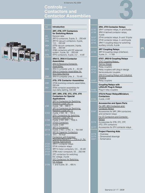 Catalog LV1 T 2009 Chapter 3 EN