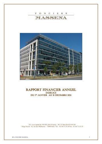 RAPPORT FINANCIER ANNUEL - Info-financiere.fr