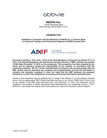 AbbVie Inc. - Abbott Laboratories