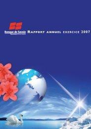 Rapport Annuel 2007 - Banque de Savoie