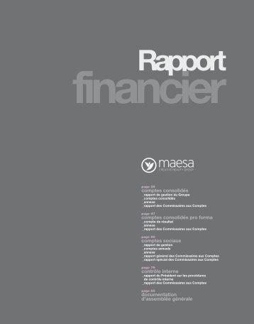 Rapport financier - Info-financiere.fr