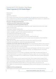 Nokia Corporation Q1 2012 Interim Report
