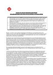 Jaarrekeningen en Verslag van Raad van Bestuur gewone AV 2012