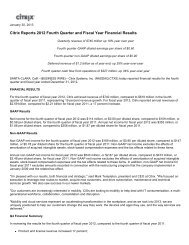 Citrix Reports 2012 Fourth Quarter and Fiscal Year Financial Results