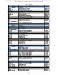 Stuart 2013 Price List - Clarkson Laboratory and Supply
