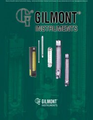 Thermo Scientific Gilmont Instruments Catalog - Clarkson ...