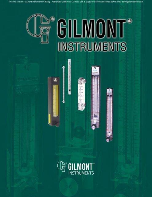 Thermo Scientific Gilmont Instruments Catalog - Clarkson ...
