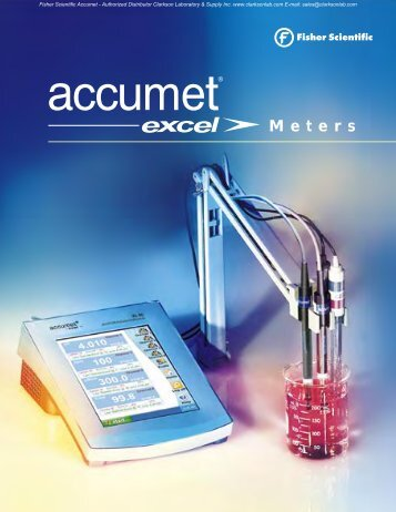 Fisher Scientific Accumet Brochure - Clarkson Laboratory and Supply