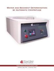 Water and Sediment Determination by Automatic Centrifuge