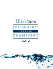 LabChem Laboratory bench chemicals and solutions