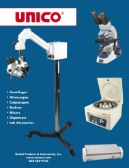 • Centrifuges • Microscopes • Colposcopes • Rockers ... - Unico