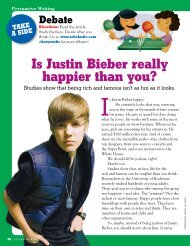 is Justin Bieber really happier than you? - Storyworks - Scholastic