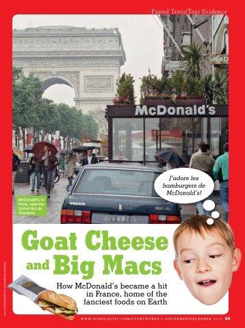 Goat Cheese Big Macs - Scholastic