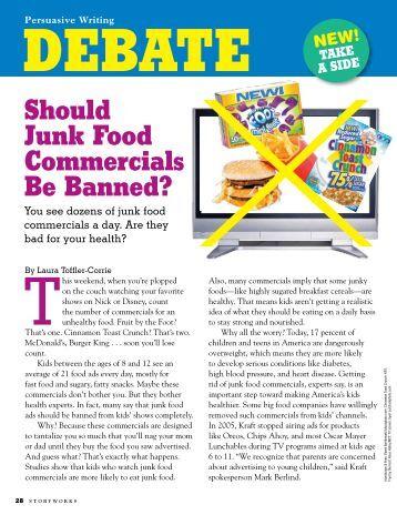 Debate: Junk food advertising ban