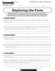 Exploring the Facts - Storyworks - Scholastic