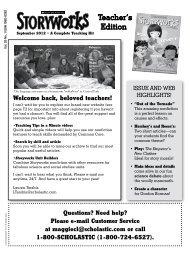 Teacher's Edition - Scholastic